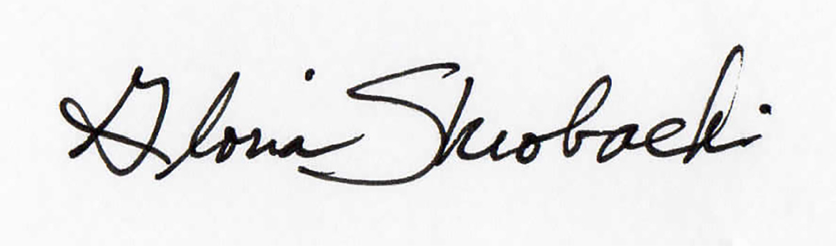 Gloria Skrobacki Signature
