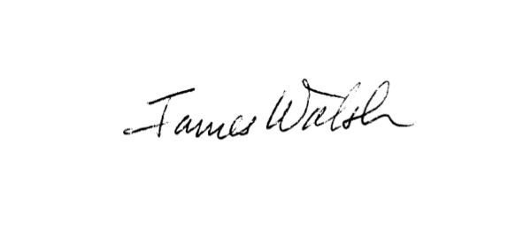 James Walsh Signature