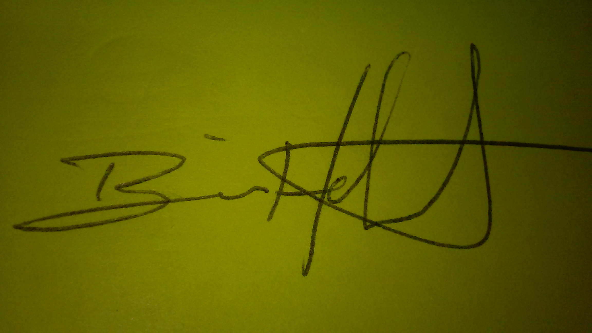Brian Hebert Signature