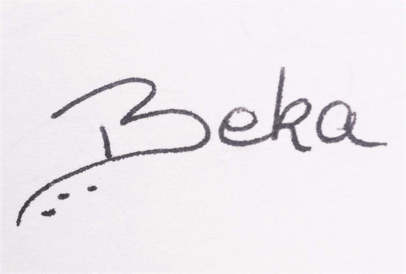 Rebeca Lopez Signature