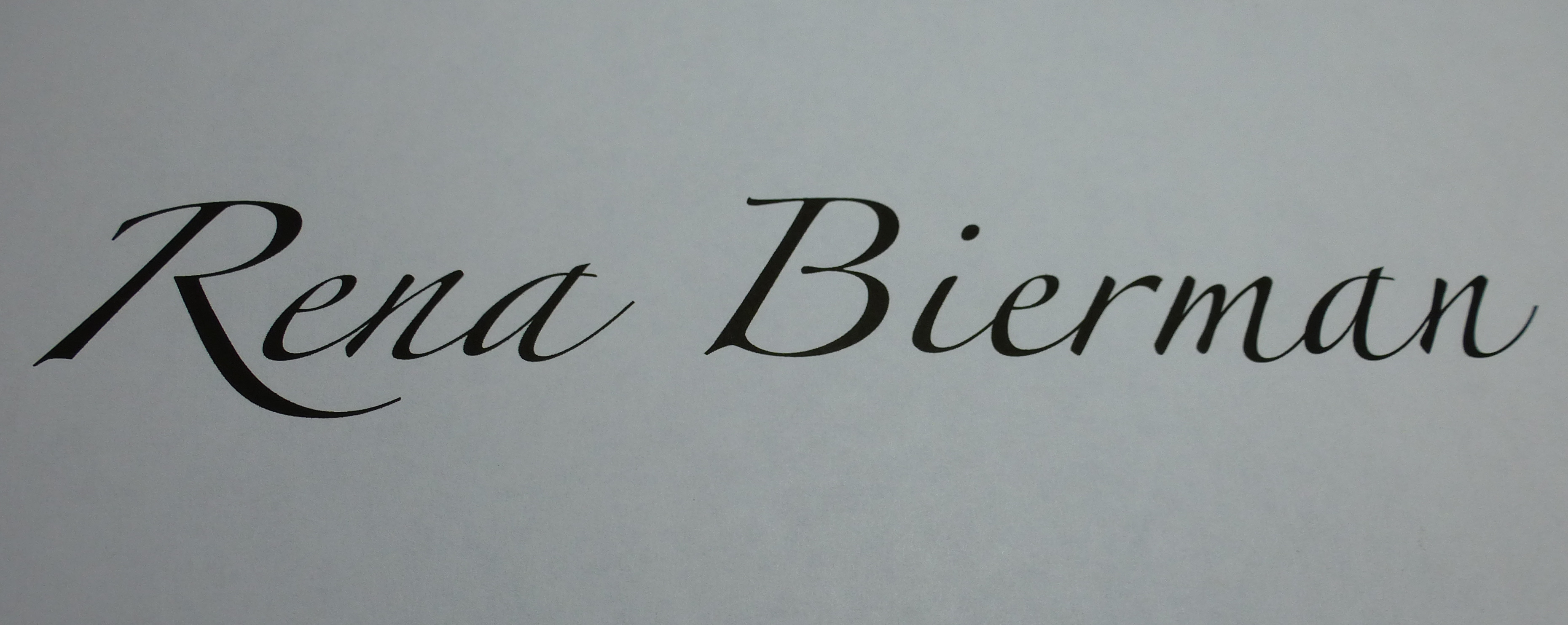 Rena Bierman Signature
