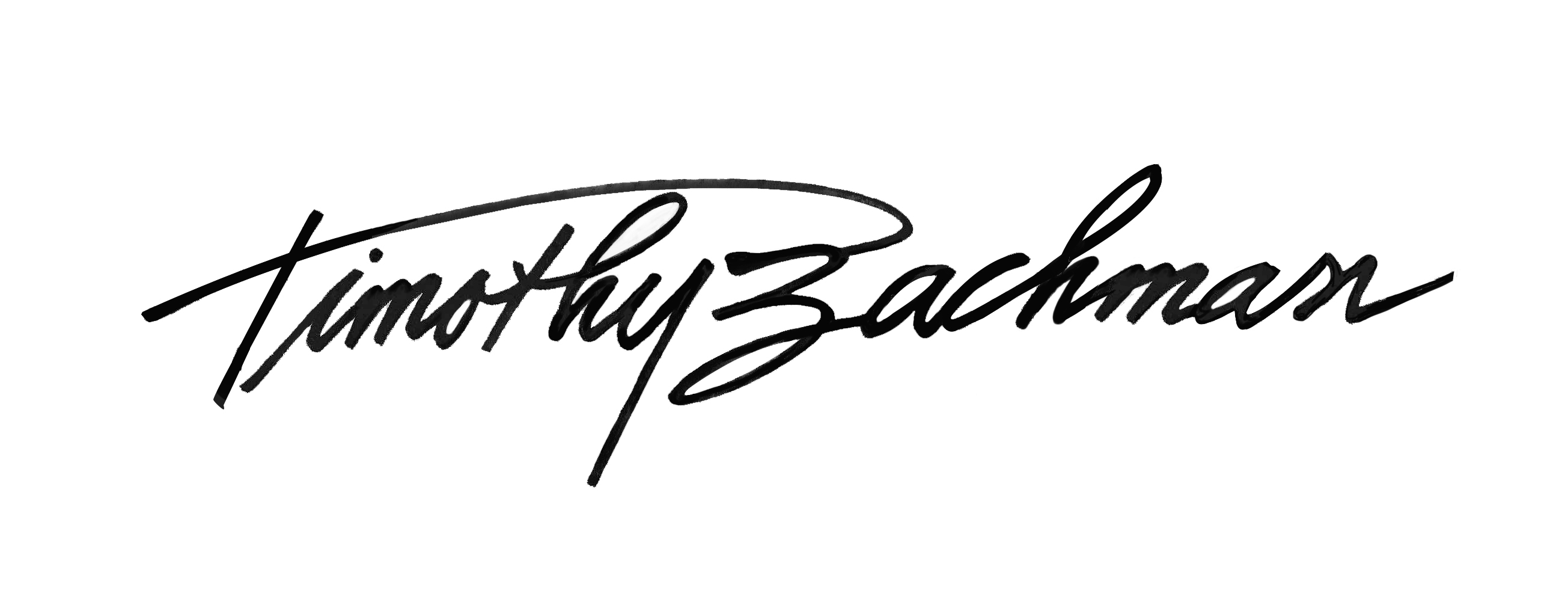 Timothy Bachman Signature