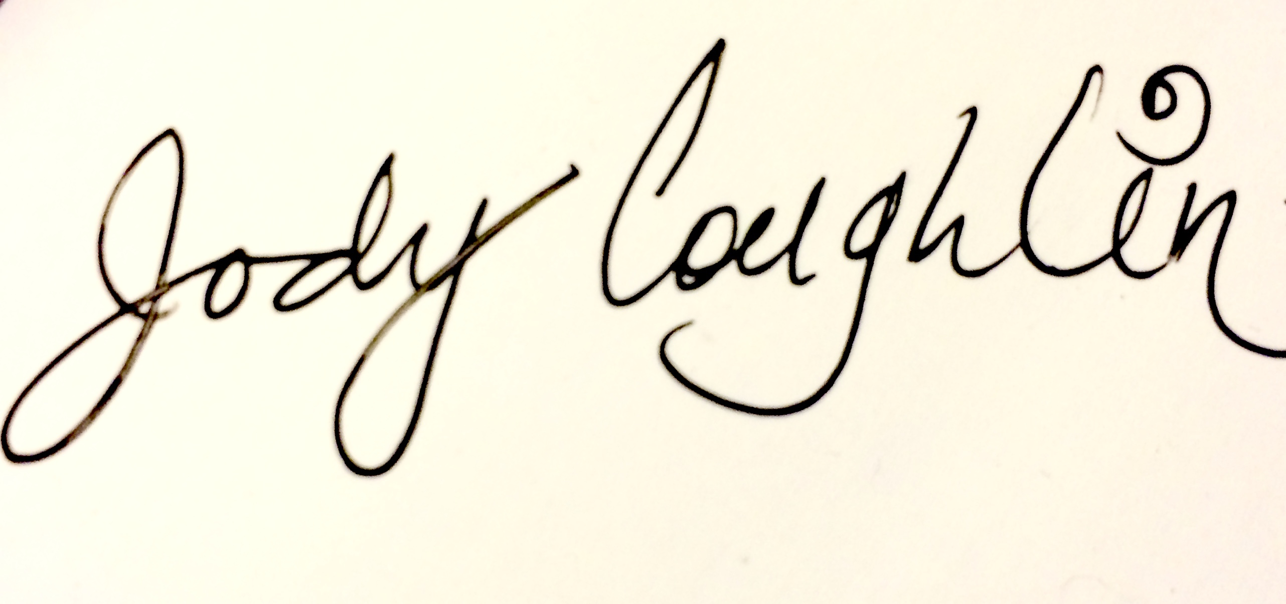 Jody Coughlin Signature