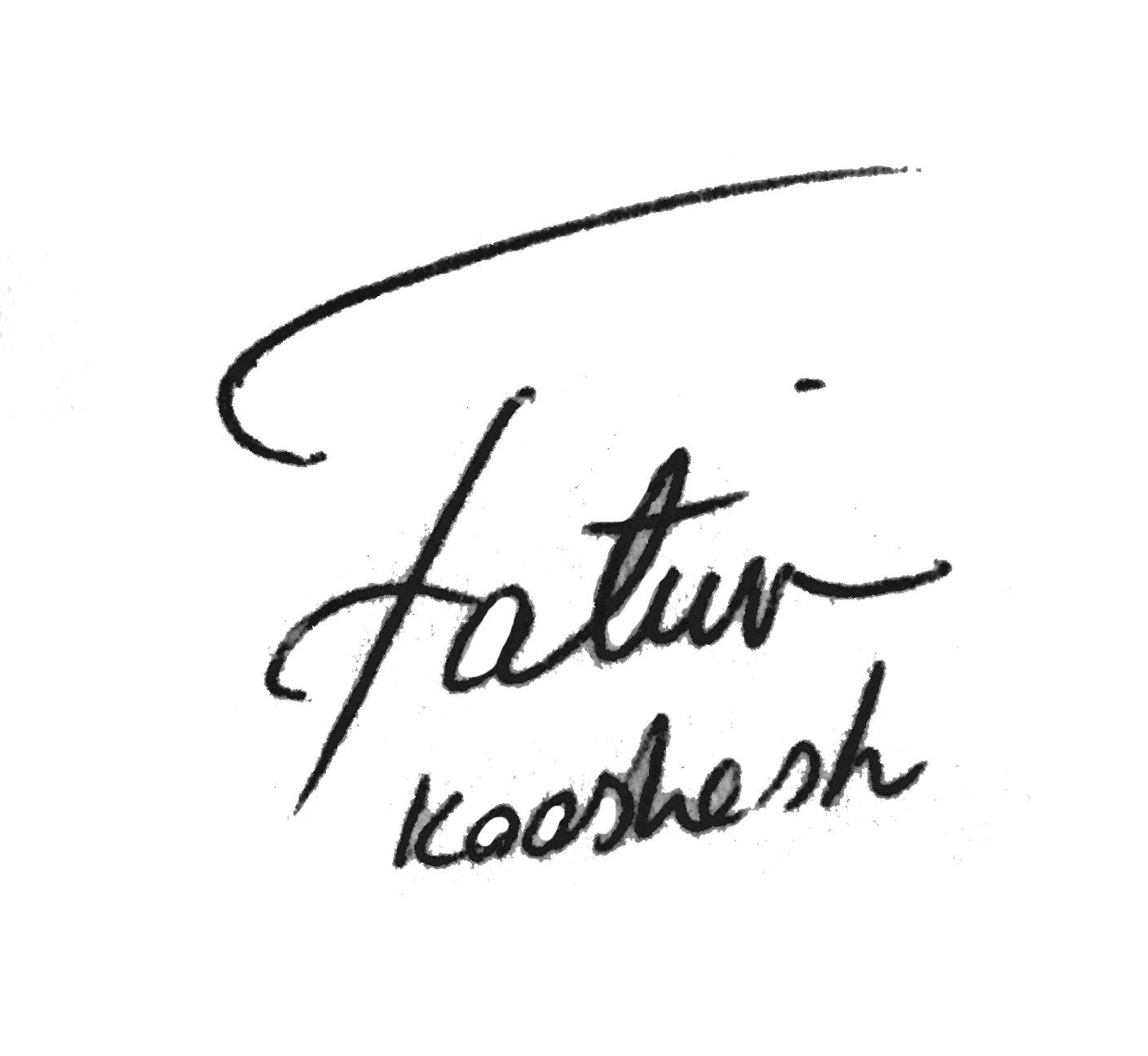 Fatima Kooshesh Signature
