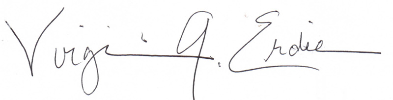 Virginia Erdie Signature
