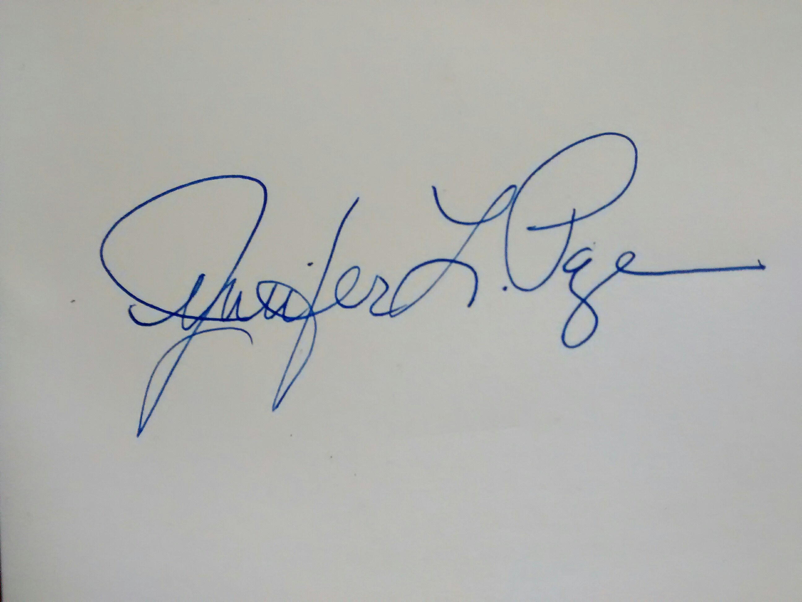 jennifer page Signature