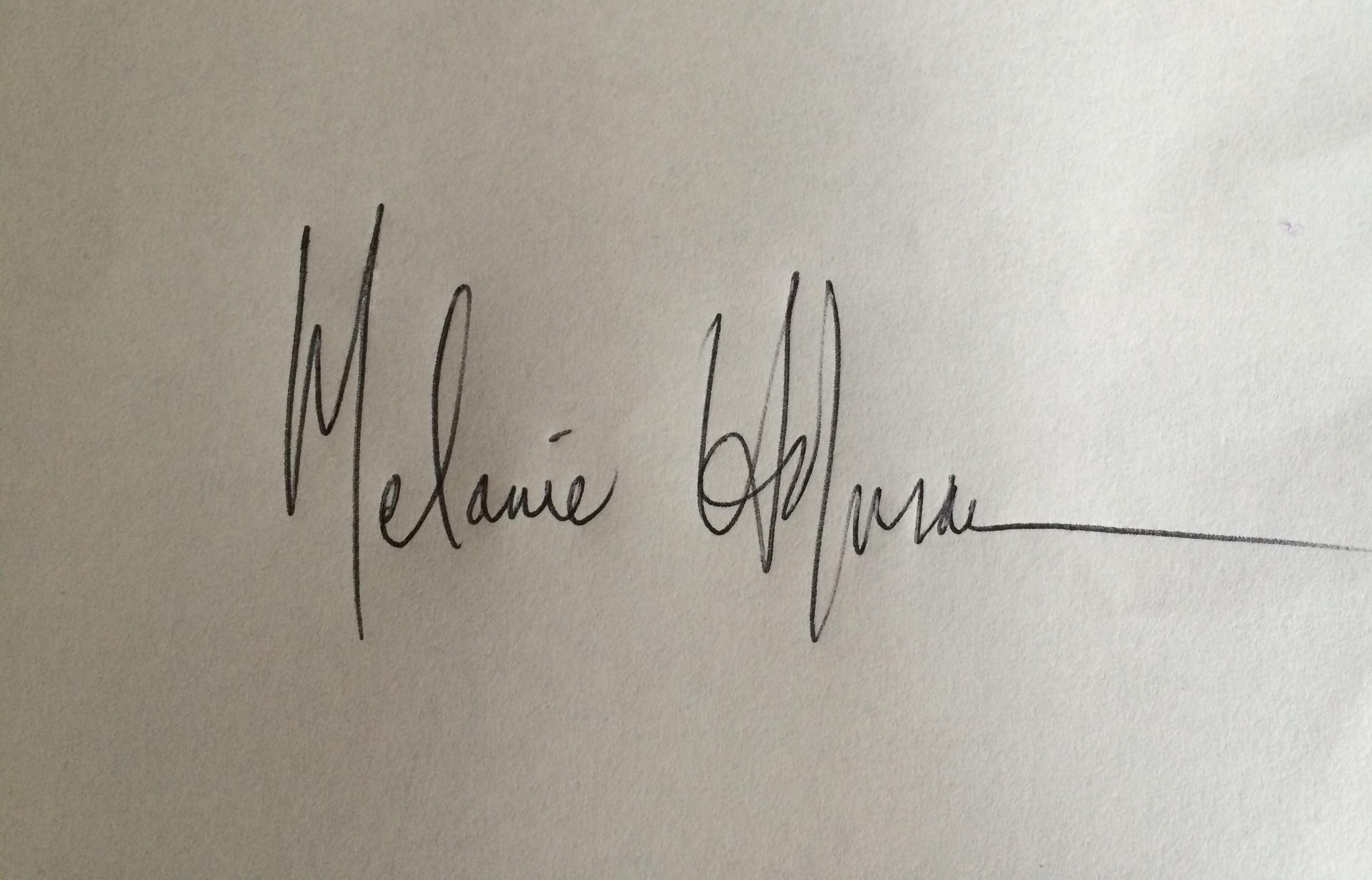 Melanie Hofmann Signature