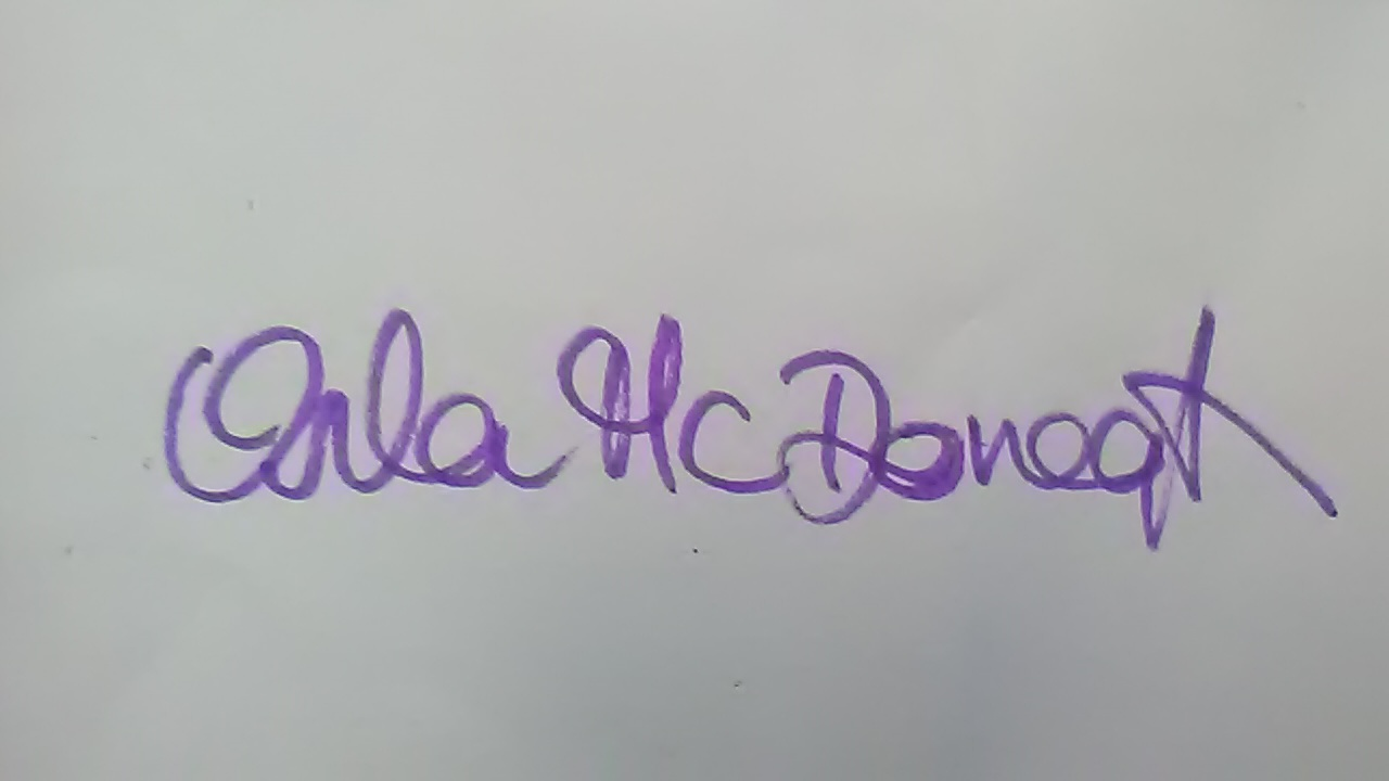 Orla Mc Donagh Signature