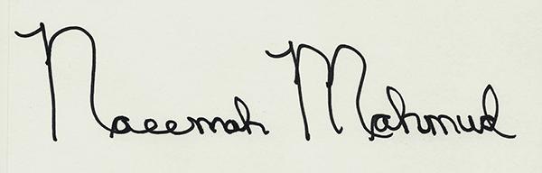Naeemah Mahmud Signature