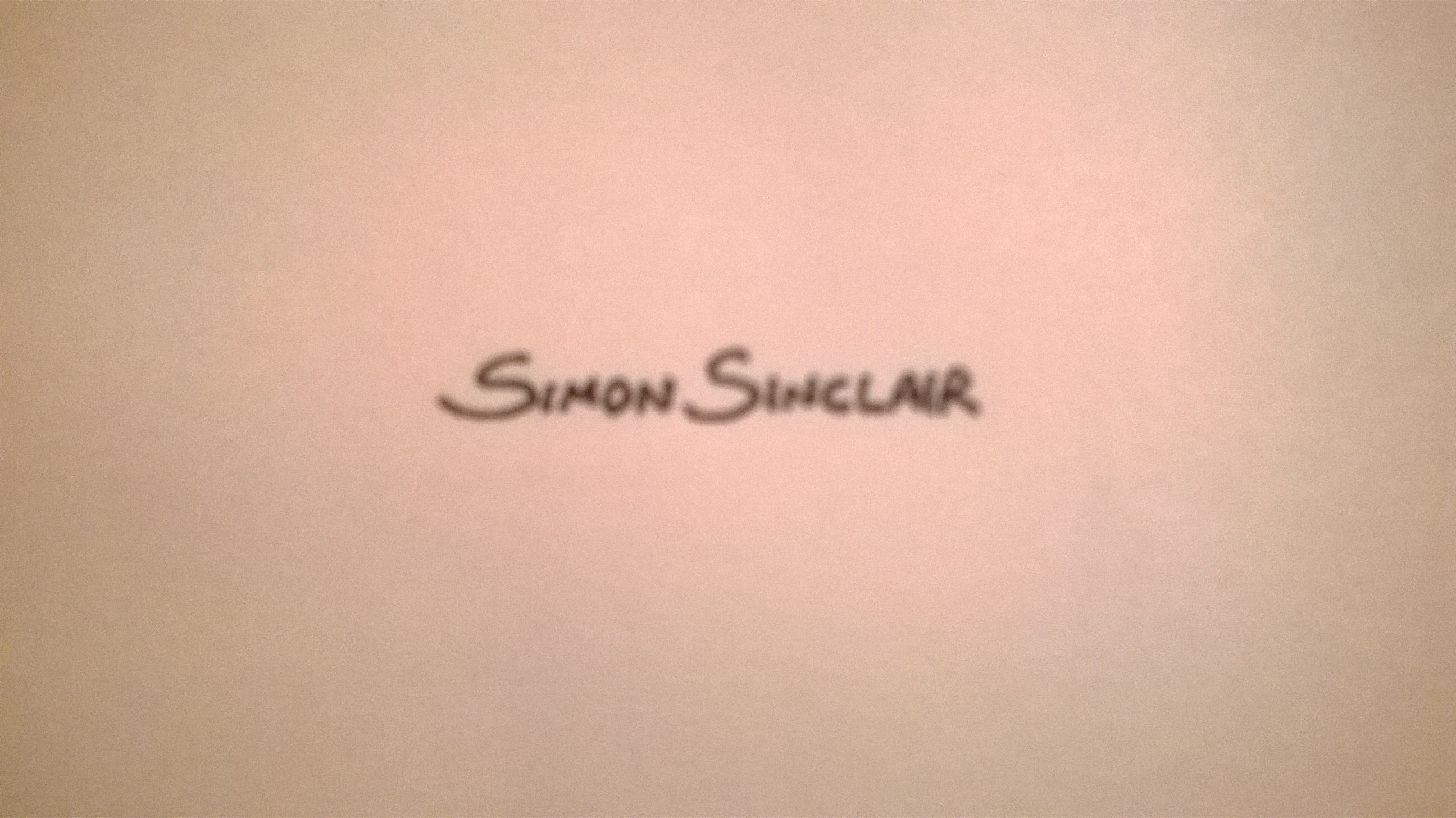 simon sinclair Signature