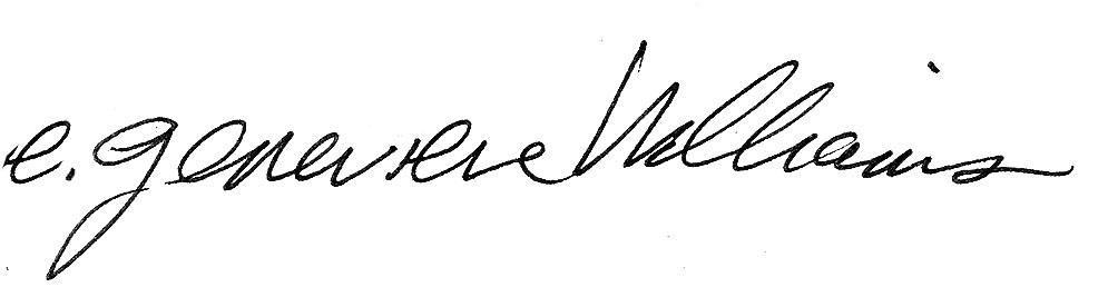 E genevieve Signature
