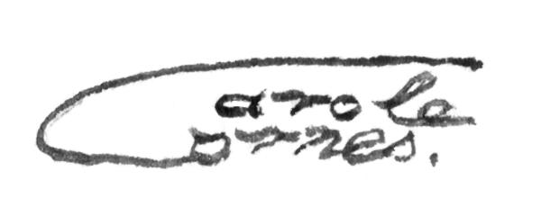 Carole Cornes Signature