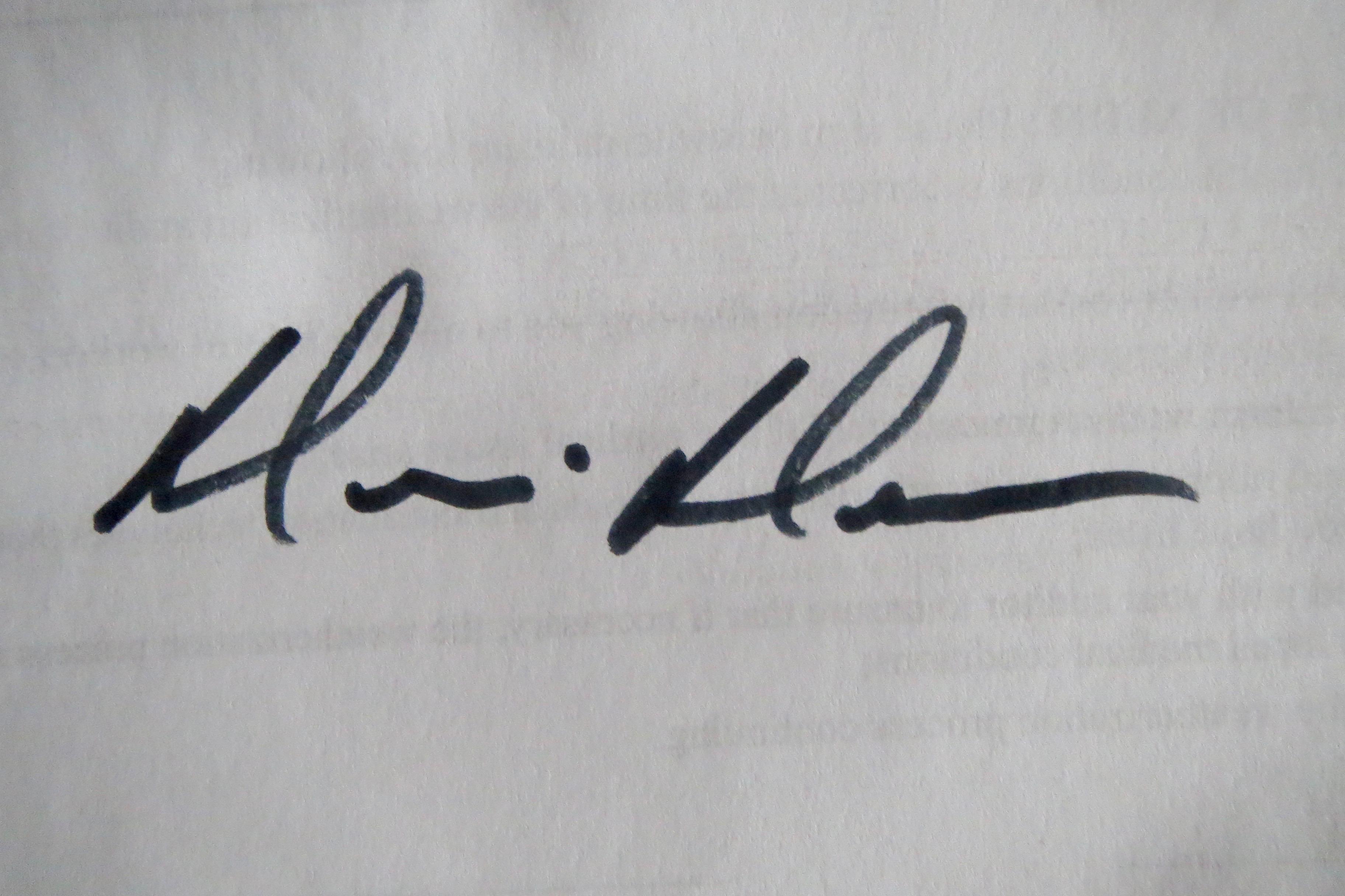 Dennis Duncan Signature