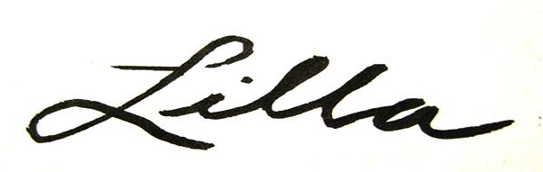 Lilla Dent Signature