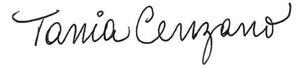 Tania Cenzano Signature