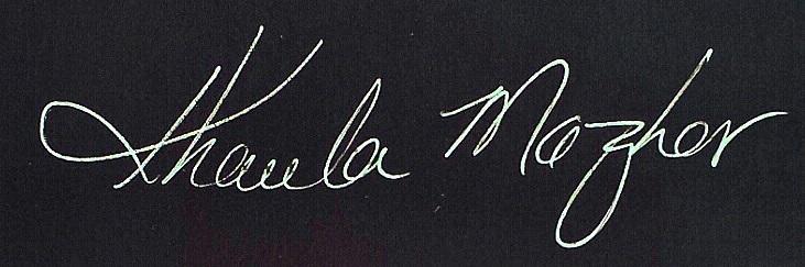 Khaula Mazhar Signature