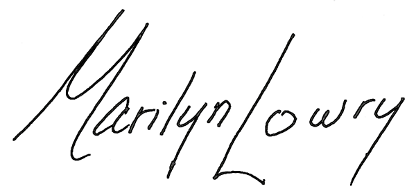 Marilyn Lowry Signature