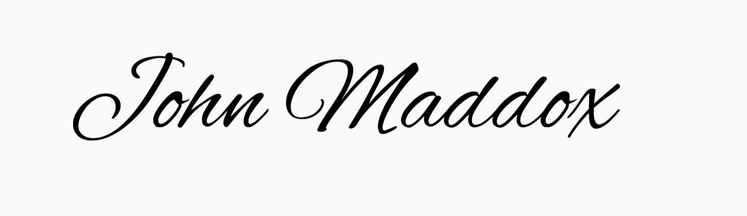 John Maddox Signature