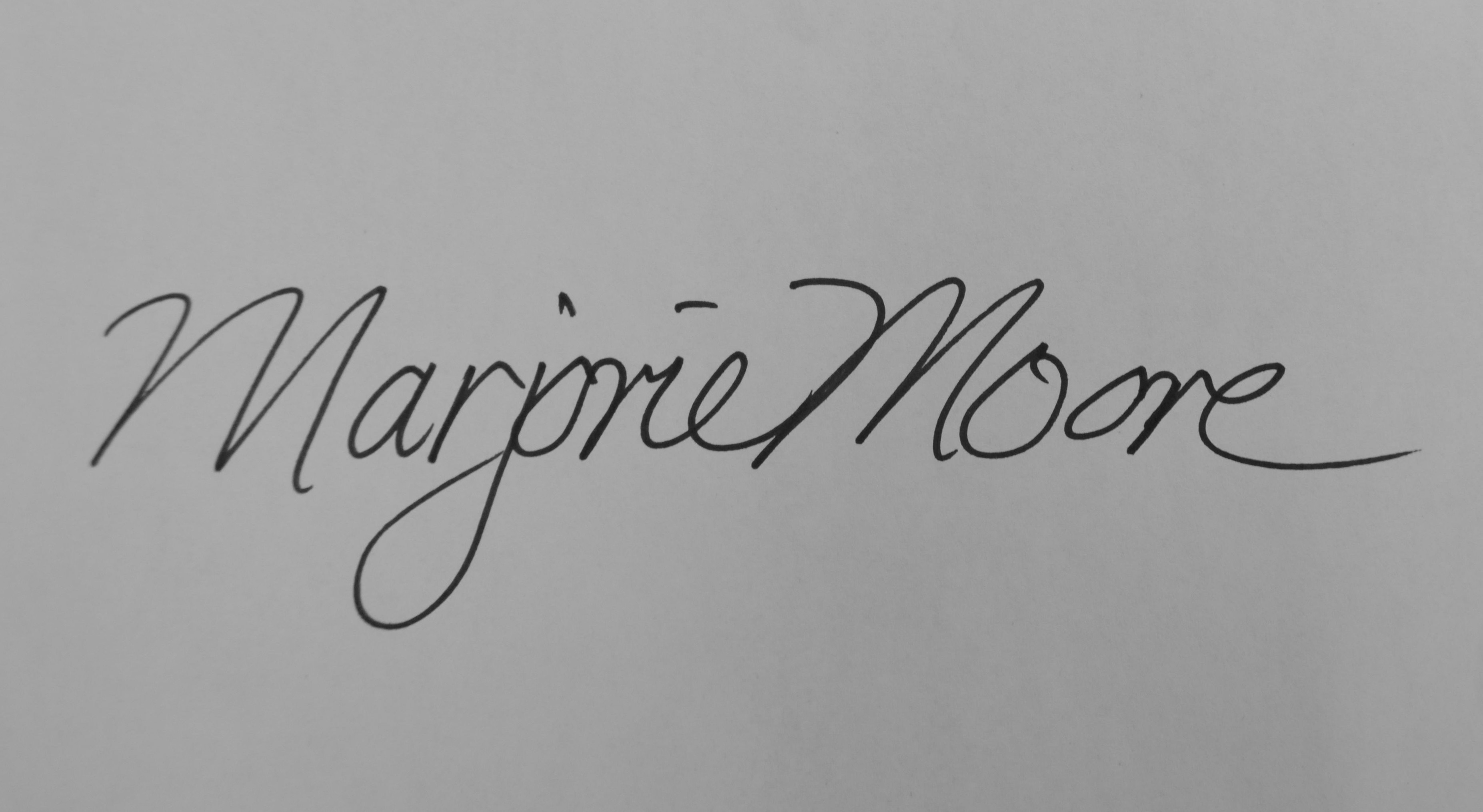 Marjorie Moore Signature
