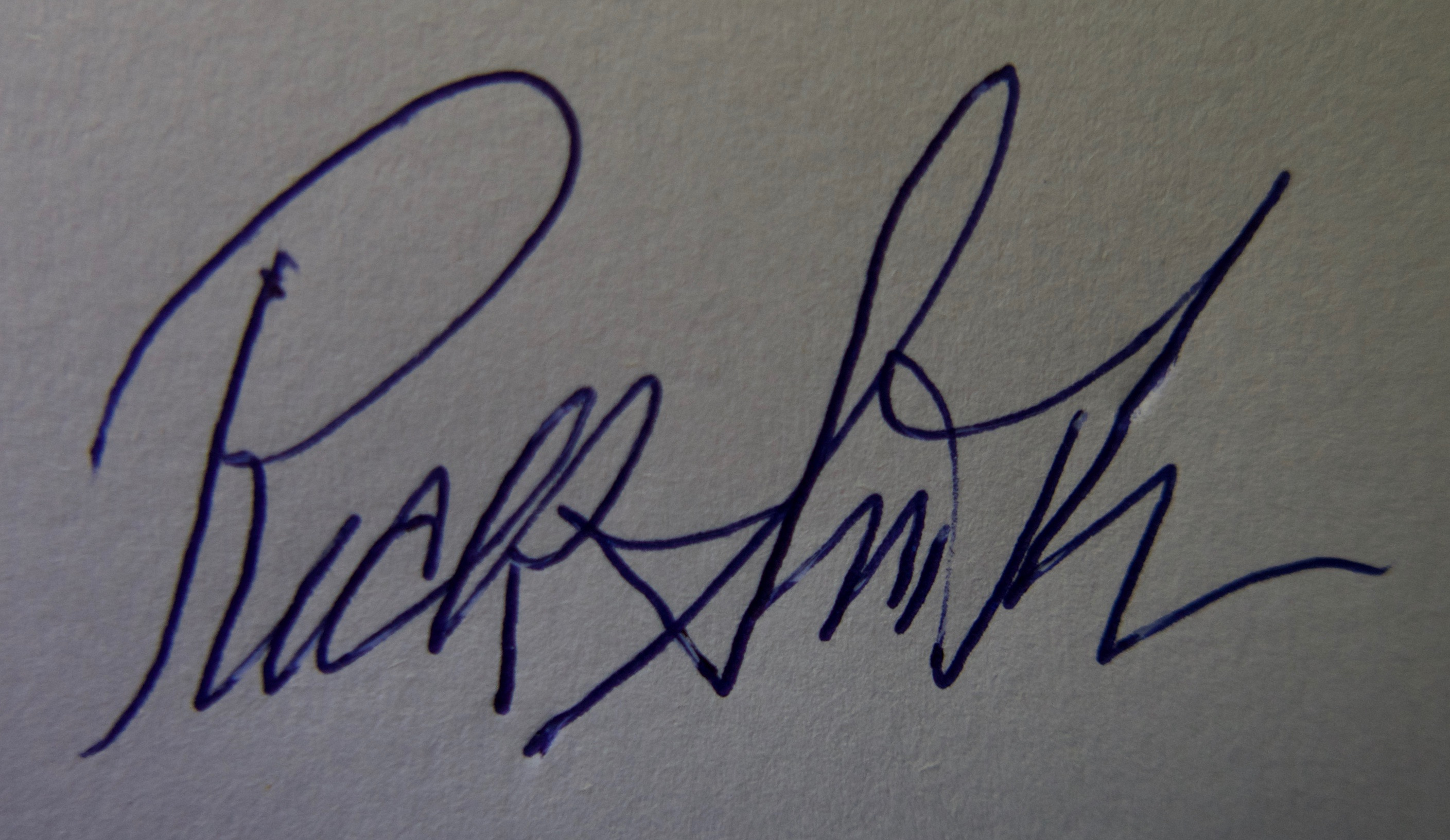 Rick Smith Signature