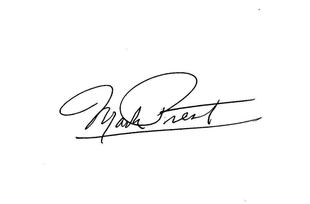 Mark Prest Signature