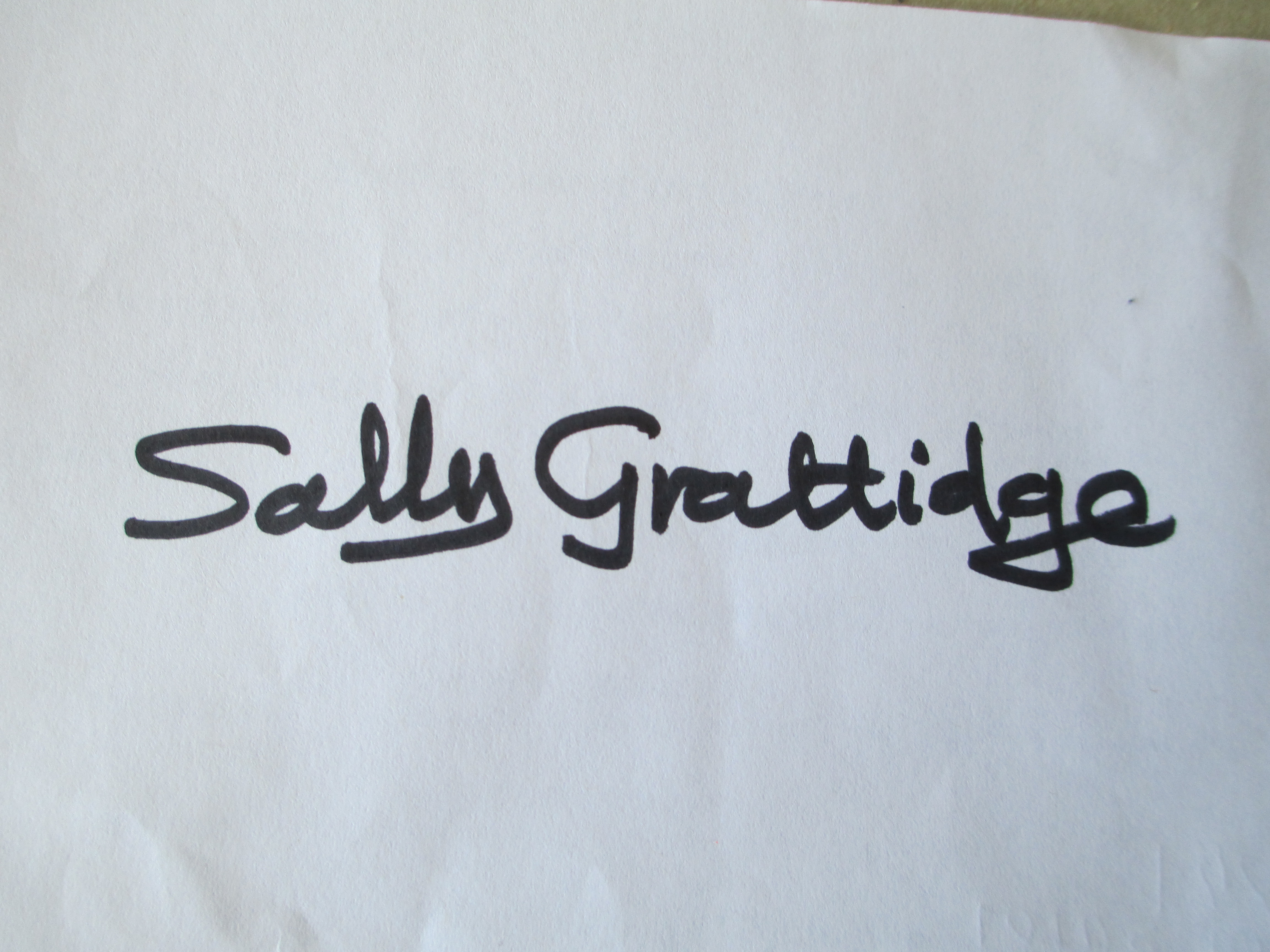 Sally Grattidge Signature