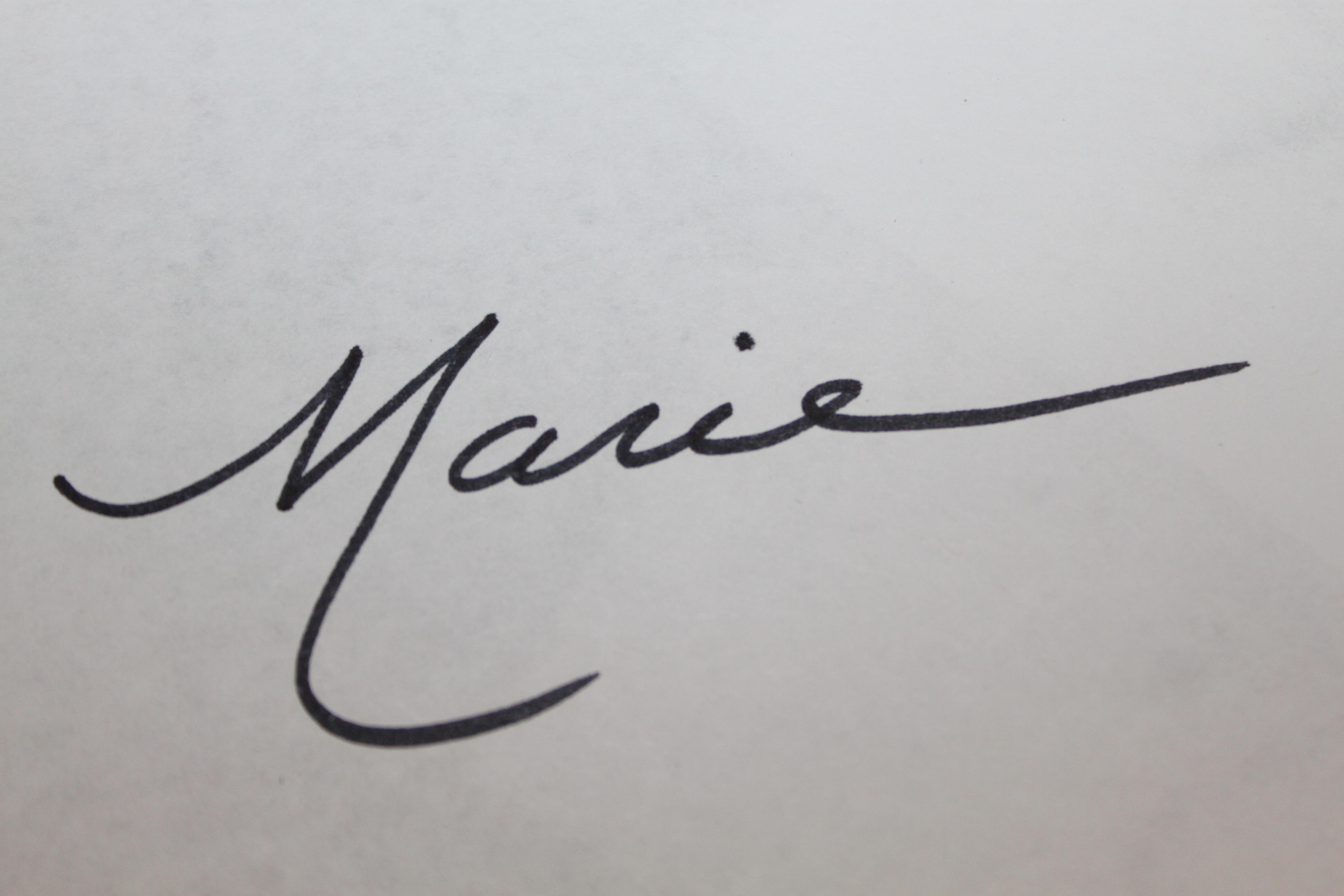 Marie Turowski Signature