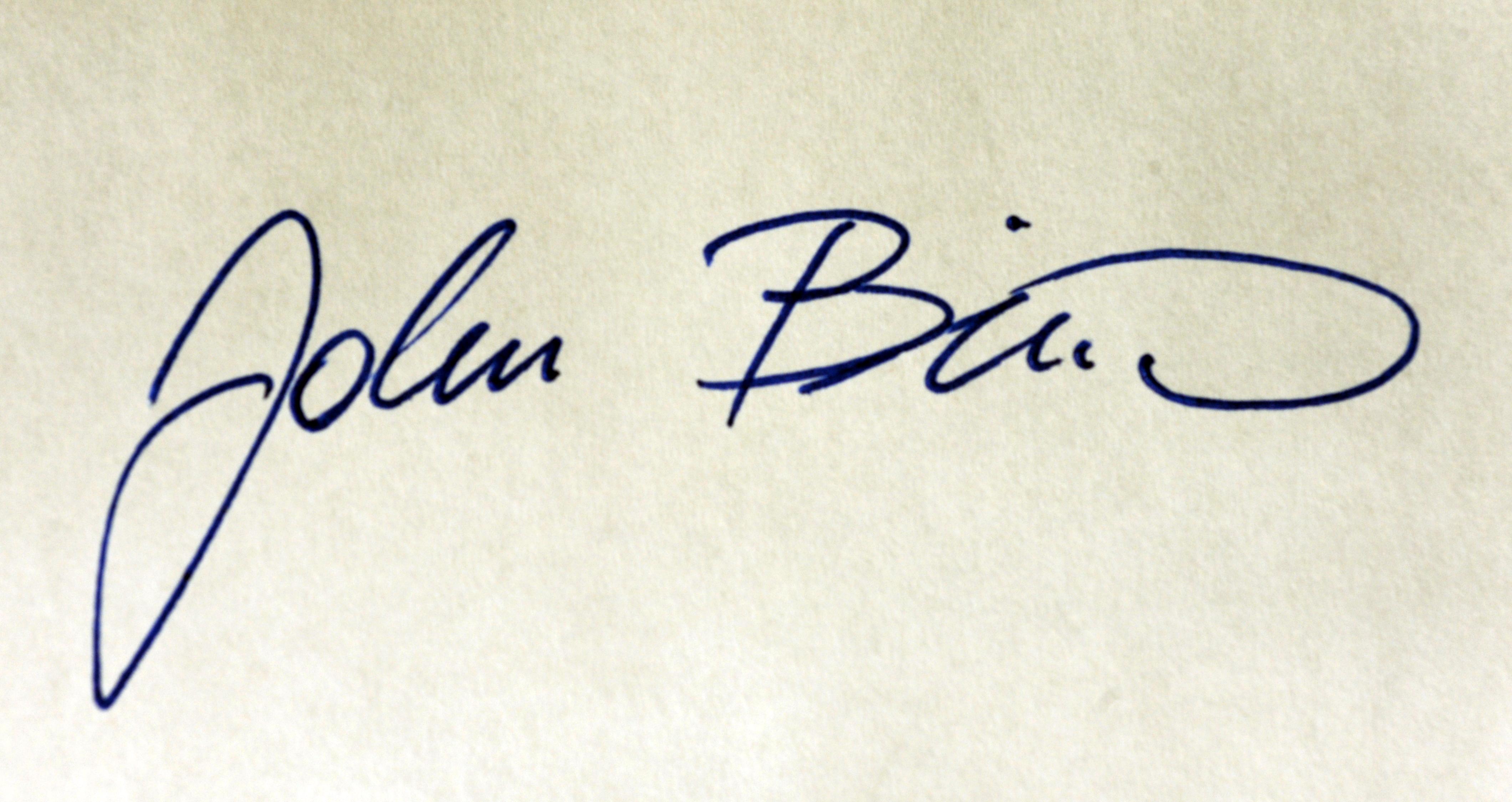 John Biro Signature