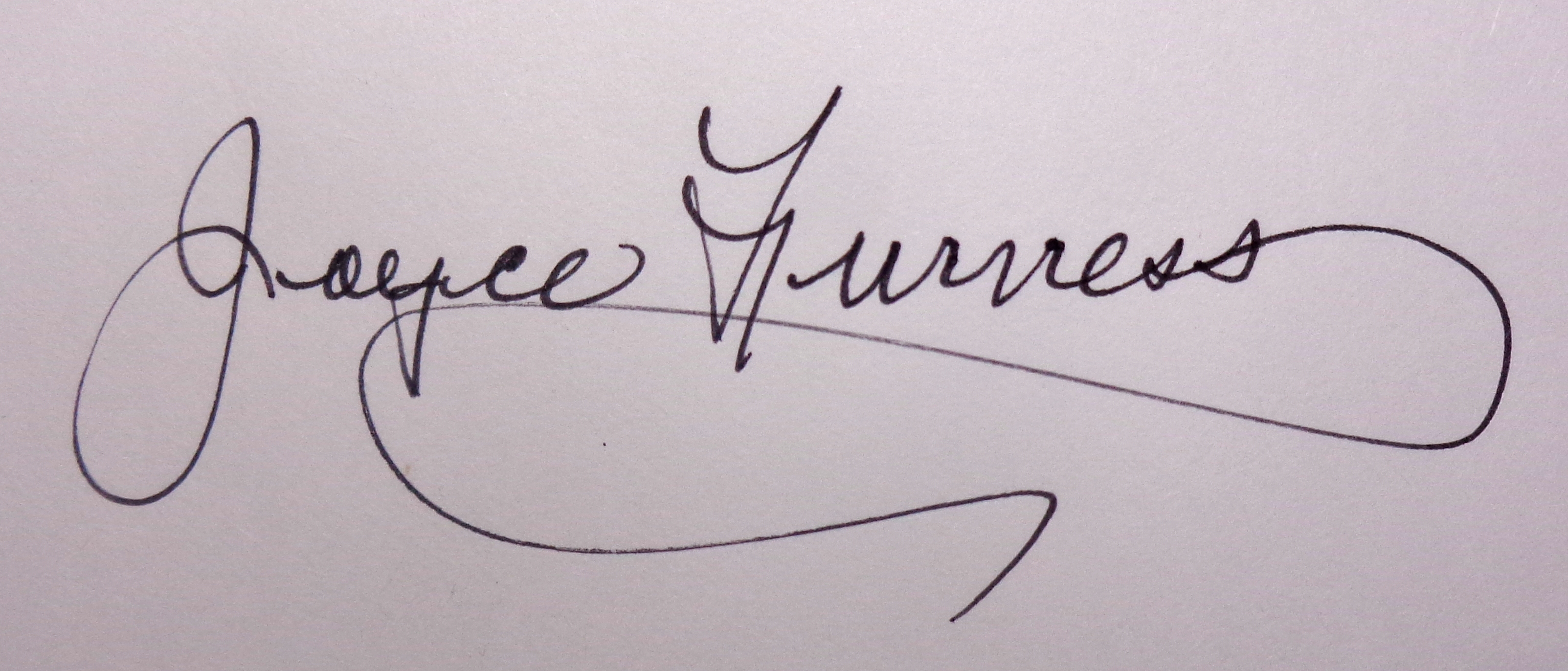 Joyce Furness Signature