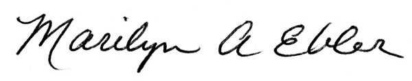 Marilyn Ebler Signature