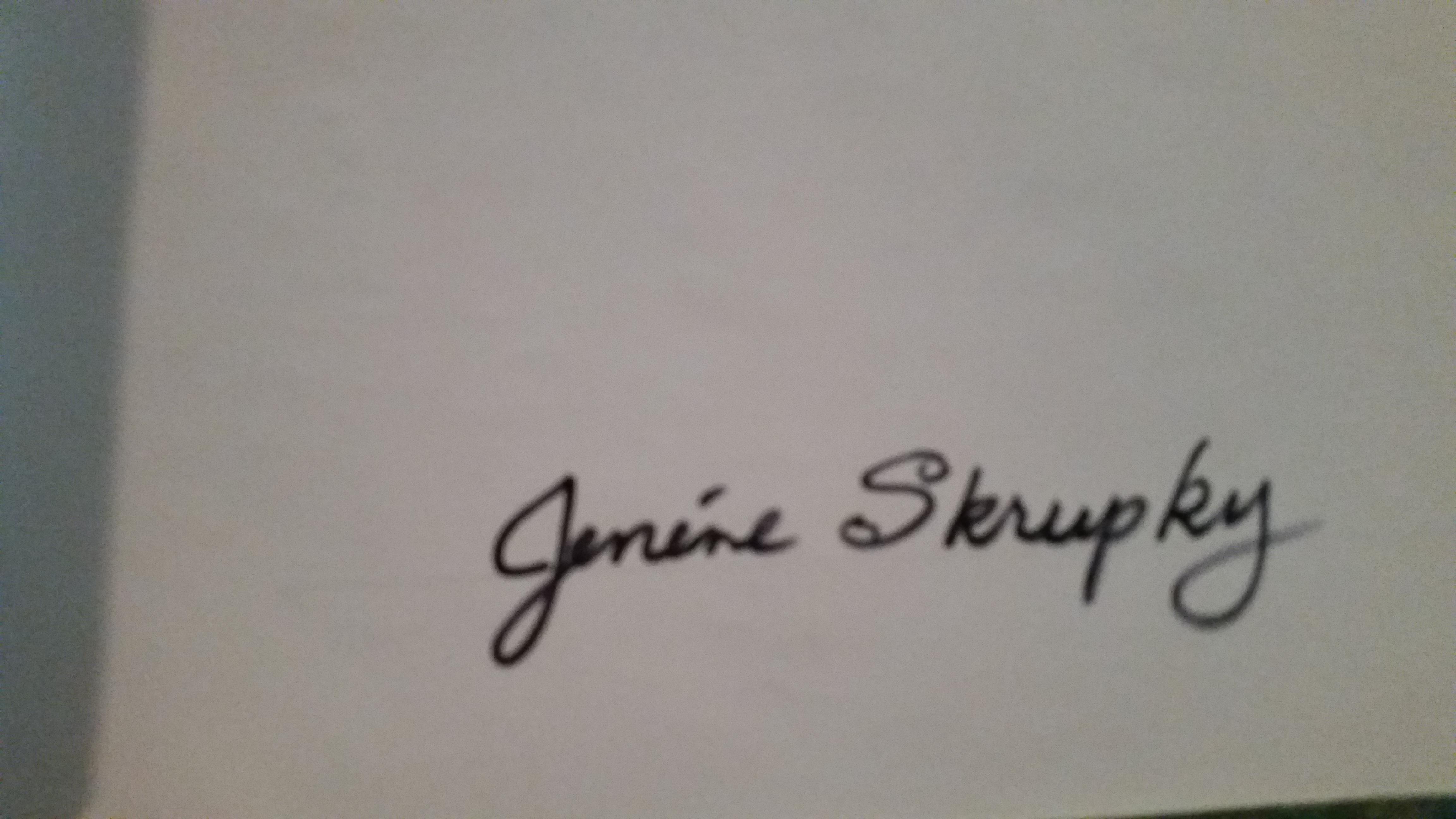 Jenene Skrupky Signature
