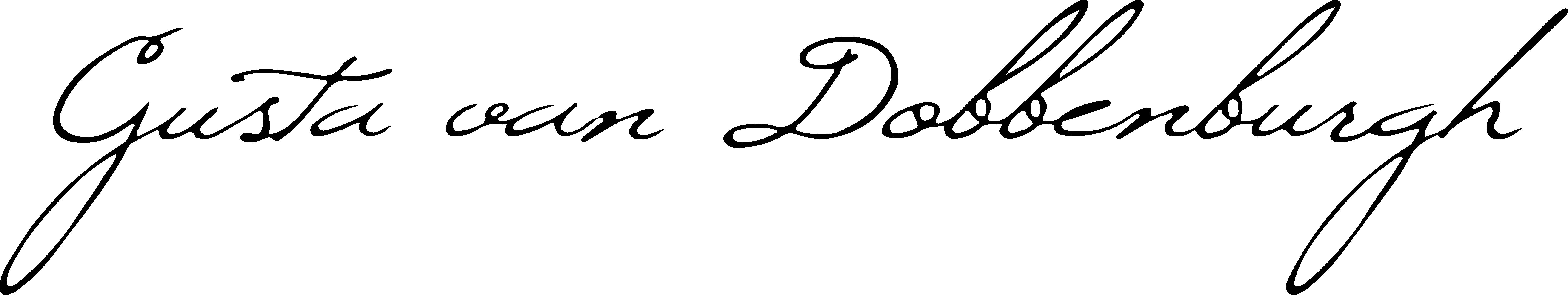Gusta Van Dobbenburgh Signature