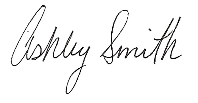 Ashley Smith Signature