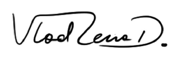 Vladlena Dyrda Signature