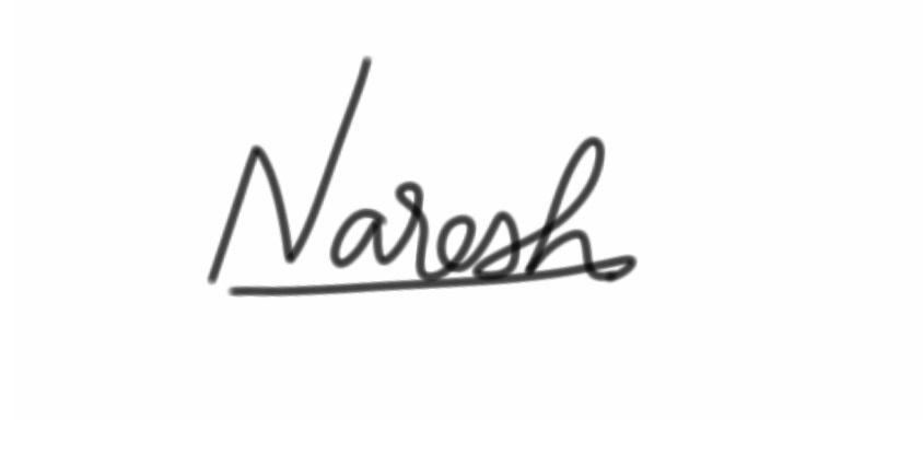 Naresh Namanandi Signature