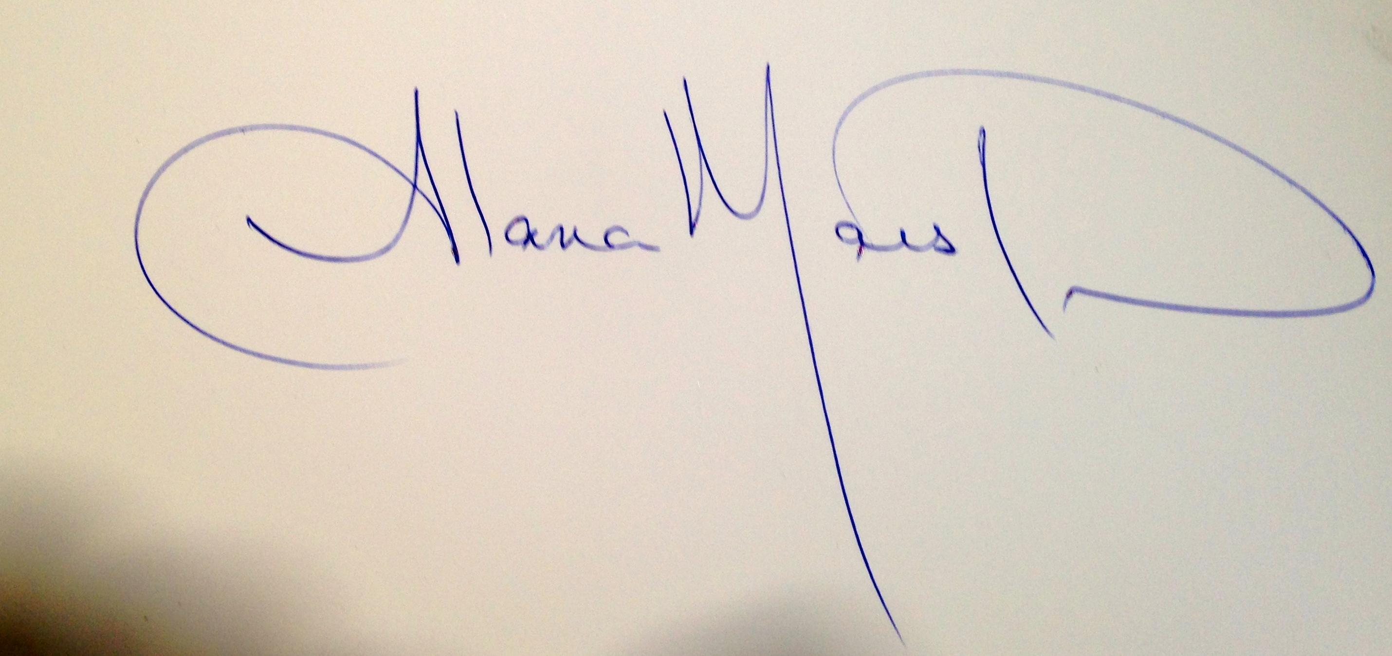 Alana Marston Signature