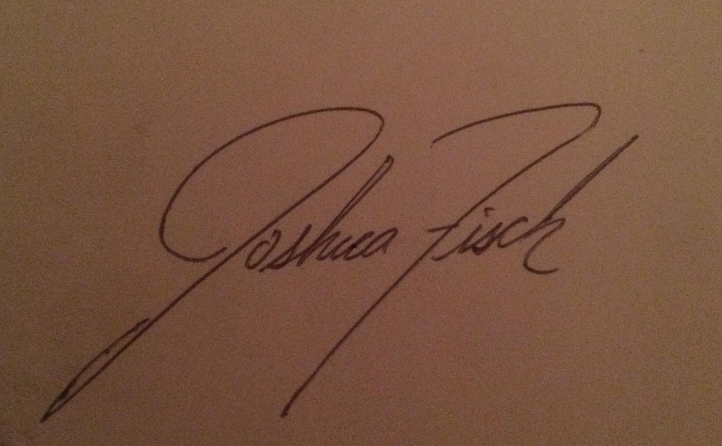 JOshua Fisch Signature