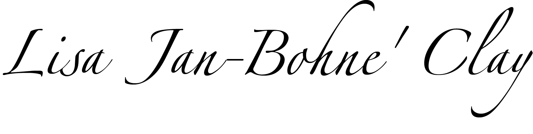 Lisa Jan-Bohne' Clay Signature