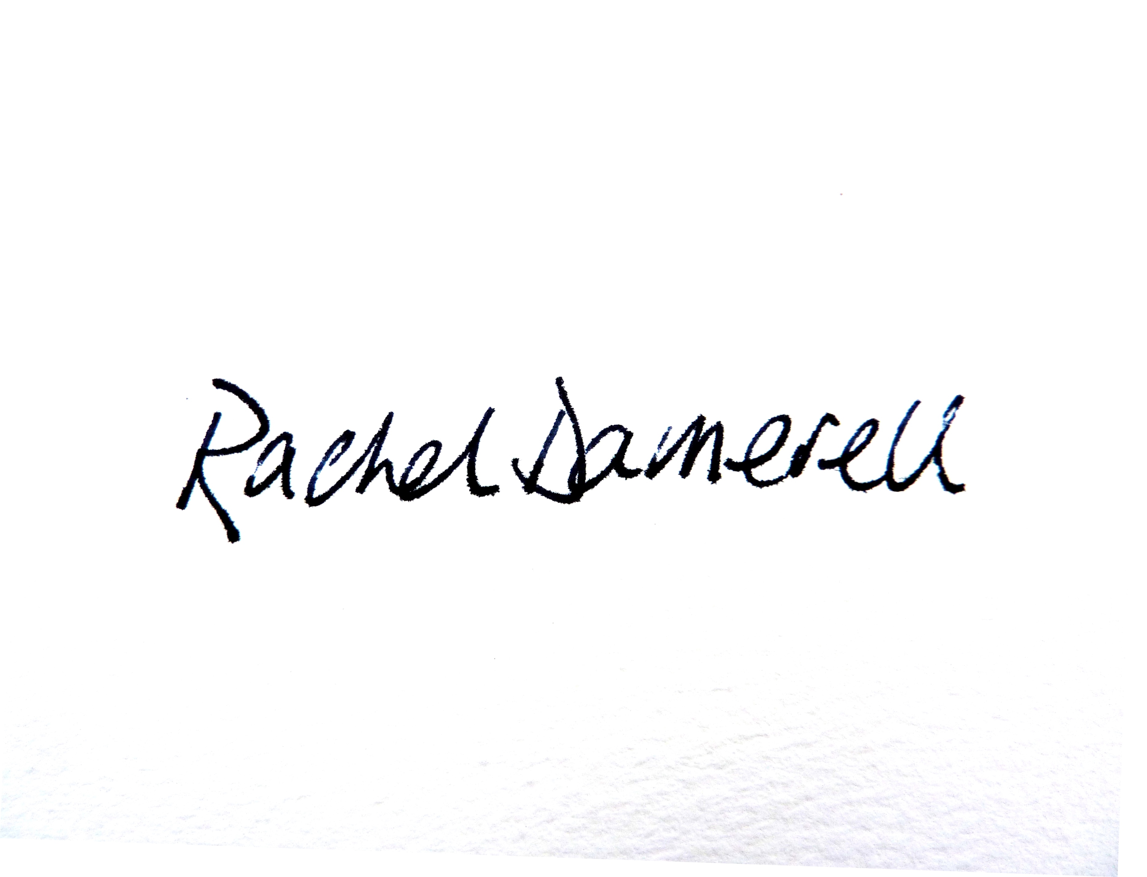 Rachel Damerell Signature