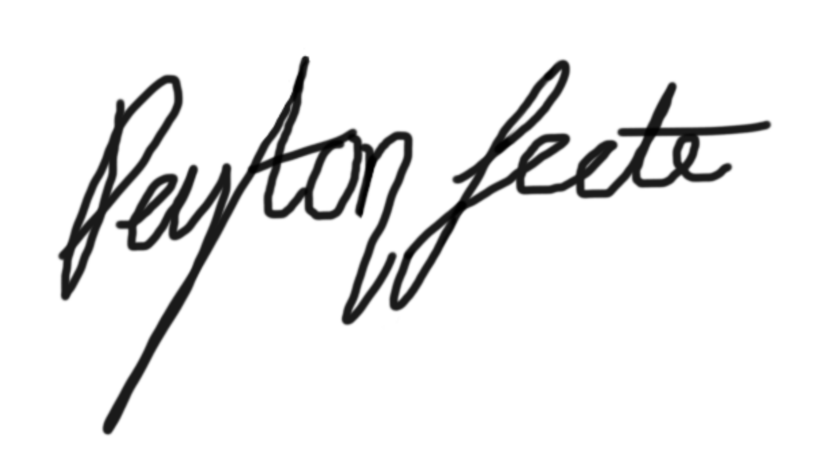 Peyton Leete Signature