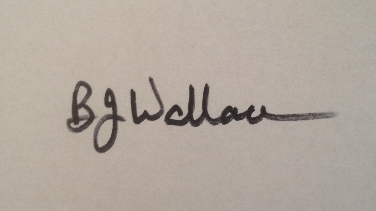 Barbara Wallace Signature