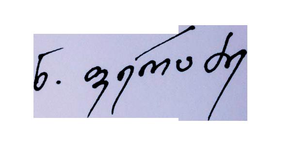 Nino Peradze Signature