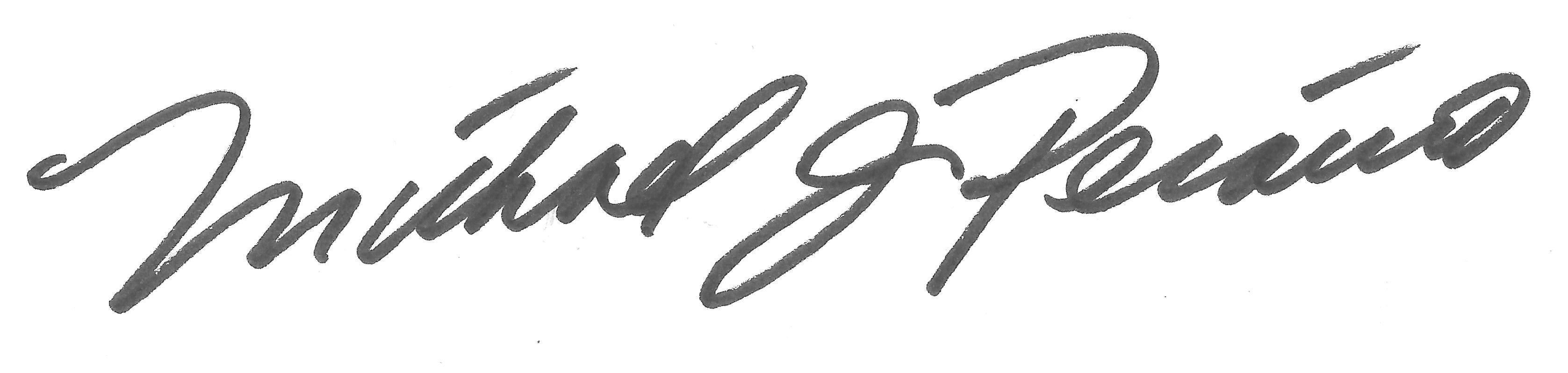 Michael Peraino Signature