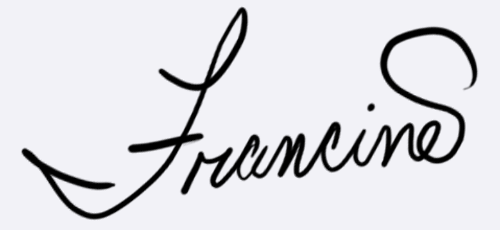 Francine Dufour  Jones Signature