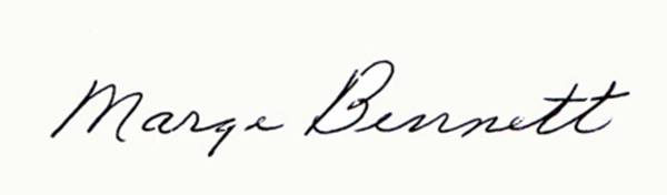 Marge Bennett Signature