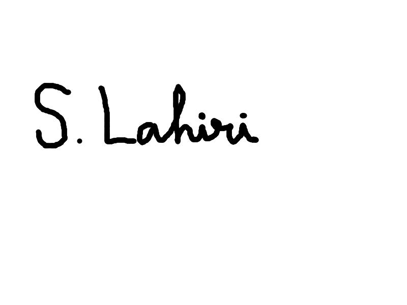 Shibamouli Lahiri Signature