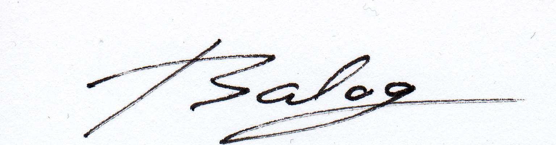 STEFAN BALOG Signature