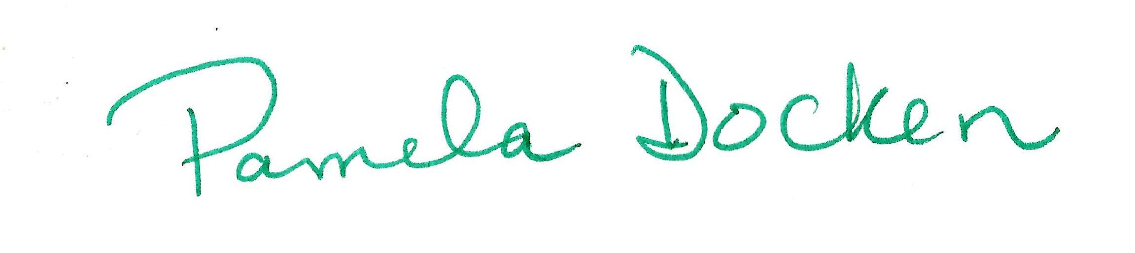 Pamela docken Signature