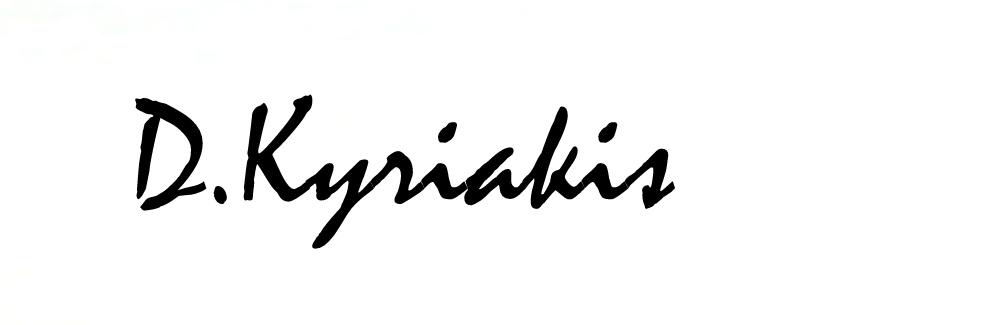 Dimitris Kyriakis Signature