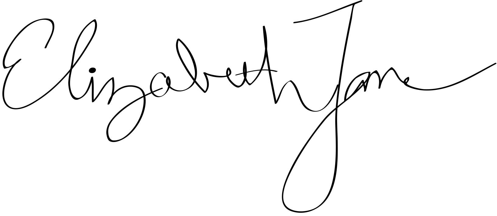 Elizabeth Jane Signature